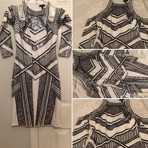 NWOT‼️ Sequined black and white night dress 👗